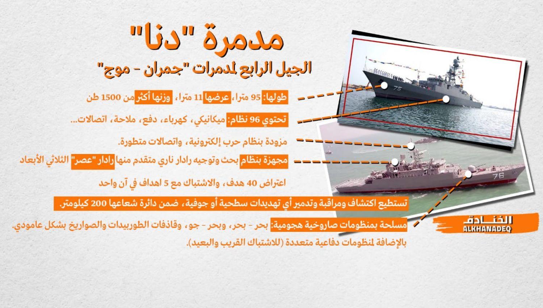 """""""دنا"""" و""""شاهين"""": يد إيران البحرية هي العليا"""