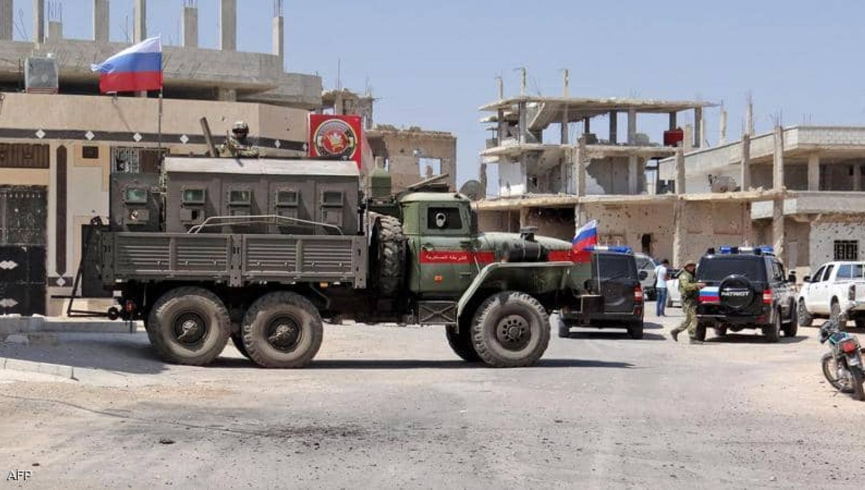 اللجنة الامنية تنتشر في حي الاربعين بعد رضوخ مسلحي درعا للتسوية